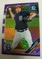 2019 Bowman MOJO Purple Refractor ALEX FAEDO card #/250 DETROIT TIGERS Baseball
