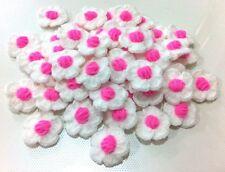 50 FLOWERS CROCHET DIY HAND CRAFT SEWING DECORATIVE CLOTHING HAT YARN KNITTING