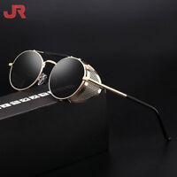 Mens Retro 80S Punk Mirrored Sunglasses Driving Sport Eyewear Style Glasses