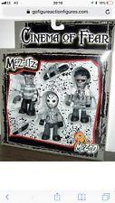Mezco Mez-Itz Cinema of Fear Figure Set (B/W), Freddy Krueger, Leatherface Jason
