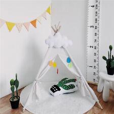 Kinderzelt Weiß Spielzelt Babyzelt Spielhaus Tipi Indianer Wigwam 160cm Zelt
