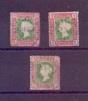 Helgoland 1867 - 3mal MiNr 3 - gut gestempelt je geprüft - Michel 210,00 € (451)