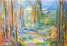 HUILE-ECOLE POLONAISE-ABSTRAIT- ATTRIBUEE BOYANKA DRUFOVKA-1976-ART ABSTRAIT-2/2