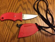 ORIGINAL Vintage BLACKIE COLLINS BC Fixed Blade Knife w/ Sheath & Neck Lanyard