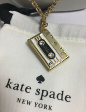 Kate Spade Jazz Things Up Cassette Mix Tape Long Necklace w/ KS dust Bag New