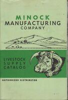 VINTAGE MINOCK MANUFACTURING COMPANY LIVESTOCK SUPPLY CATALOG 1964