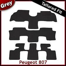 PEUGEOT 807 2002 - 2006 2007 2008 2009 2010 MONTATA Su Misura Carpet Tappetini Auto Grigio