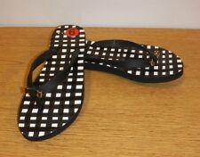 NWOB COACH Amel Rubber Flip Flop,   Black and white - Size 6 M