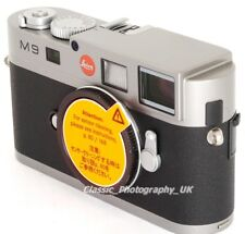 LEICA M9 10705 Steel Grey nr MINT! NEW Sensor fitted in April! Boxed! 2856 Shots