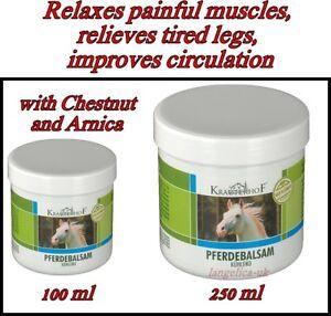 ASAM Krauterhof Pferdebalsam Massage GEL with Chestnut & Arnica 100 ml or 250 ml