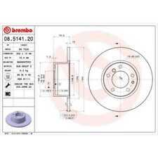 BREMBO 2x Disques de Frein Plein 08.5141.20
