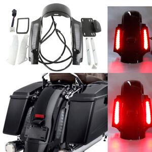Rear Fender Fascia Set W/ Led light For Harley Electra Road Glide King 09-13 11
