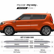 (Fits) KIA Soul 2015-2019 Chrome Body Side Molding Cover Trim Door Protector