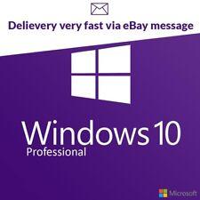 Windows 10 PRO Professional Activation Key 32/64 bit Genuine