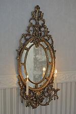 Wandspiegel Shabby Chic Kerzenleuchter Wandleuchter Spiegel Silber