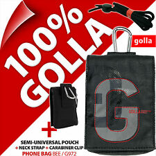 Golla Black Phone Case Pouch Bag for iPhone 4 4S 5 5S SE Samsung Galaxy S2