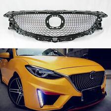 Mazda 6 2014-2016 VIP Diamond Mesh Black & Chrome Front Hood Bumper Grill