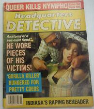 Headquarters Detective Magazine Gorilla Killer November 1984 062215R