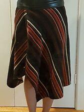 TATTOO Retro orange and black striped skirt - Sz 8