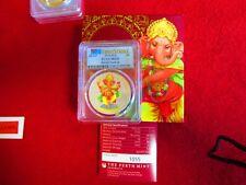 2017 TUVALU Diwali Festival 1oz Ganesh .9999 Silver $1 Coin NGC pcgs  PF pr 70