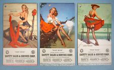 1950s Gil Elvgren 3 Choice Color Pin-up Advertising Writing Tablets Unused