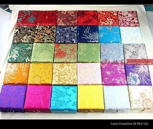 Wholesale10pcs Chinese Classic Square Silk Wood Bracelet Jewerly Boxes Gift Box