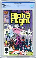 Alpha Flight  #33  CBCS  9.6  NM+   White pgs   4/86  1st App. Yuriko Oyama as