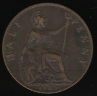 1902 Edward VII Halfpenny Coin | British Coins | Pennies2Pounds