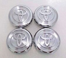 Chrome Center caps fits Toyota Avalon Camry Highlander Wheel Rims 62mm Set (4)
