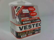 VESTEC H3 95W 4500K White Halogen Headlight Fog Light Globe Bulb Made in Japan