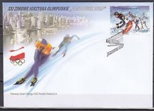 POLAND 2010 FDC SC#  Winter Olympics Games - Vancouver