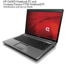 HP Compaq Presario F500 F700 G6000 Service Manual PDF