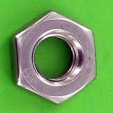 Metric Stainless Steel A2 Thin Jam Nut M10 X 1.0 Pack of 5