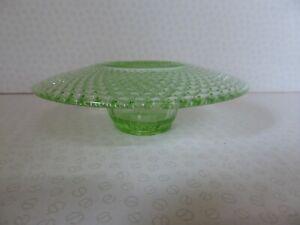 Jobling #2595 Uranium Green Glass  Art Deco Mushroom Shaped Posy Bowl