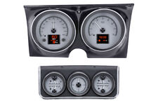 1967 Camaro Dakota Digital Silver Alloy HDX Custom Analog w/ Console Gauge Kit