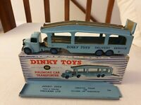 RARE Dinky No 982 Bedford Pullmore Car Transporter from 1950s with Loader boxed
