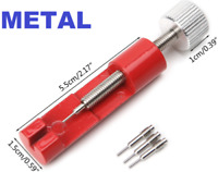 Metal Adjuster Watch Band Strap Bracelet Link Pins Remover Repair Tools Kit..
