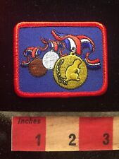 Gold Medal Patch - Silver And Bronze Medals In Background 70V5