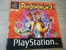 RARE PANDEMONIUM 2 PLAYSTATION 1 REPLACEMENT MANUAL MANUAL ONLY