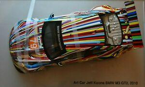 !! BMW Art Car JEFF KOONS, M3 GT2, Museum Edition, Minichamps 1:18, OVP, NEU !!