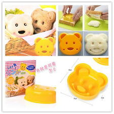 1PC Teddy Bear Shape Bread Cake Sandwich Maker Diy Mold Plunger Cutter Craft DIY