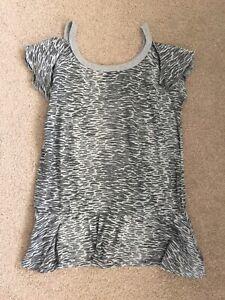 Ladies Grey Patterned Kangol T Shirt Top Size 10