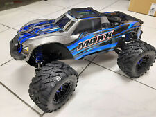 Traxxas 89076-4 Blue Maxx Vxl 4S 4x4 Brushless with Tsm New in Boxed 1:10