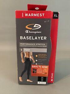 NEW CHAMPIONS Baselayer Pants Black Size XL