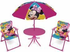 Minnie Mouse Salotto da Giardino,Terrazza set 4 pezzi, 2 sedie,tavolo,ombrellone