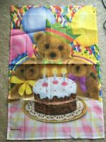 Birthday Teddy Bear Decorative House Flag