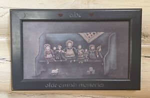 Antique Doll Toy  MARY HUGHES Olde Cherished Memories PRINT SIGNED FRAMED