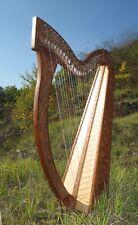 Irisch Keltische Harfe  Harp 27 Saiten mit Halbtonklappen NEU Harp Harfenfreund