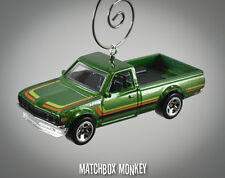 Retro '75 '76 '77 Datsun 620 Pickup Truck Custom Christmas Ornament 1/64 emblem