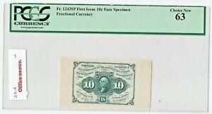 Fr 1243sp US 10c Fractional Currency Specimen Wide Margin PCGS 63 Ch NEW UNC